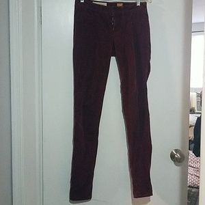 Wine colored,  maroon corduroy jeans